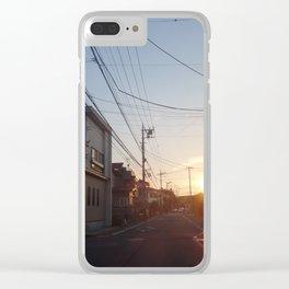 Yokohama Sunset Clear iPhone Case