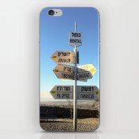 israel iPhone & iPod Skins featuring CrossRoads in Israel by David Frenkel