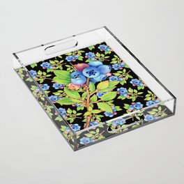 Wild Blueberry Sprigs Acrylic Tray