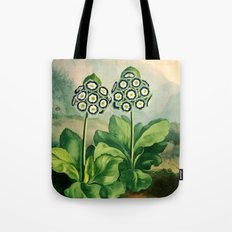 Auriculas : Temple of Flora Tote Bag