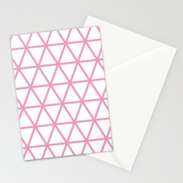 Light Pink Triangle Pattern 2 Stationery Cards