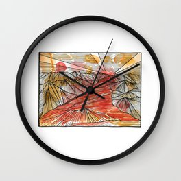 Colorado Red Wall Clock