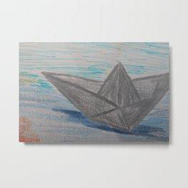 Paper Boat / Barco de papel Metal Print