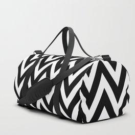 Chevron Black Duffle Bag
