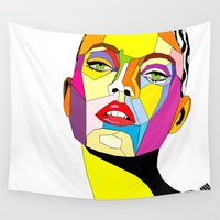 model Wall Tapestries featuring Model by Floridana Oana