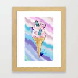 ICE CREAM BLING Framed Art Print