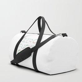 Zero Fucks Given Pastel Colours Typographic Floral Quote design Duffle Bag