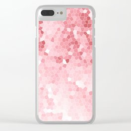 Mosaic Blush Pink Cabbage Abstract Art | Spring Clear iPhone Case