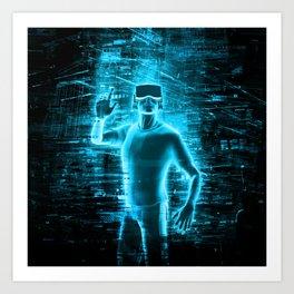 Virtual Reality User Art Print
