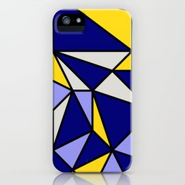 Geometric Scandinavian Design II - Navy, Blue, Yellow and White iPhone Case