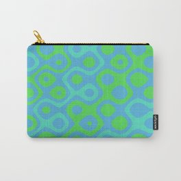 Brain Coral Green Banded - Coral Ree Series 020 Carry-All Pouch