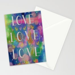 Love L.o.v.e. L!o!v!e! Stationery Cards