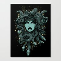 medusa Canvas Prints featuring Medusa by miles to go