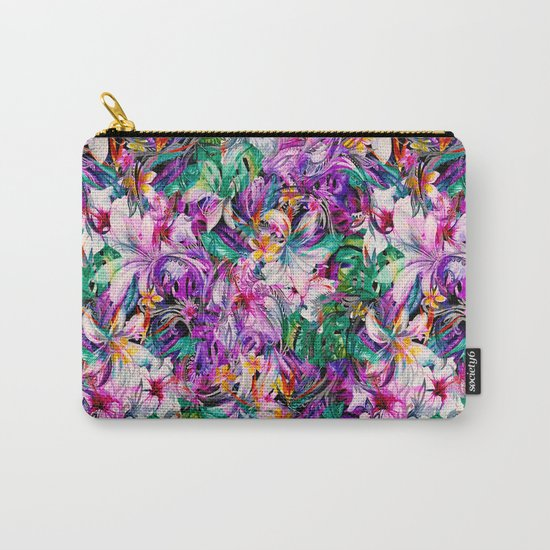 Seamless Floral And Paisley Pattern Carry-All Pouch