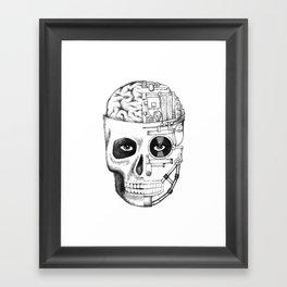 Skull: Man vs. Machine Framed Art Print