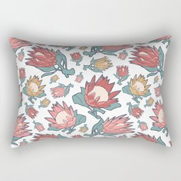 Australian Native Floral Pattern - King Protea Rectangular Pillow
