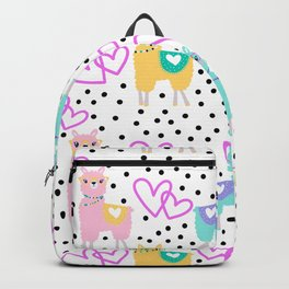 Valentine's Day Llamas Backpack
