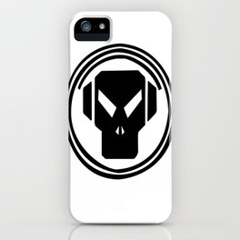 ALIEN BLACK AND WHITE MISSION CONTROL LOCKER iPhone Case