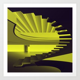 Upstairs - Brasilian Brutalism Art Print