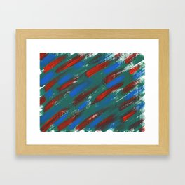 brush strokes Framed Art Print