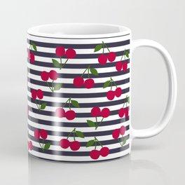 Cherry stripe pattern Coffee Mug