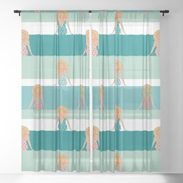 Summer view Sheer Curtain