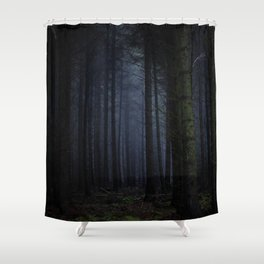 The Dark & Eerie Woods (Color) Shower Curtain