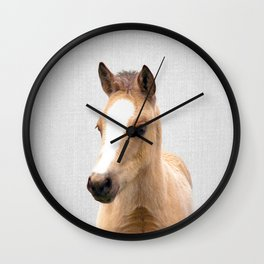 Baby Horse - Colorful Wall Clock