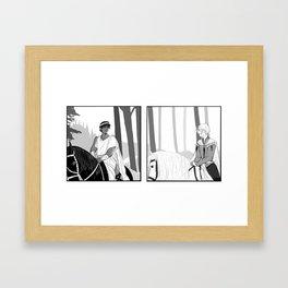 Laurent and Damen Framed Art Print