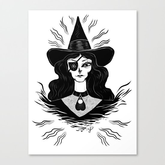 Spirit Dimension Witch Canvas Print