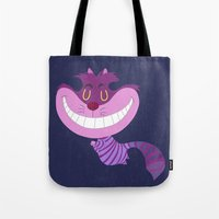 cheshire Tote Bags featuring Cheshire by Rod Perich