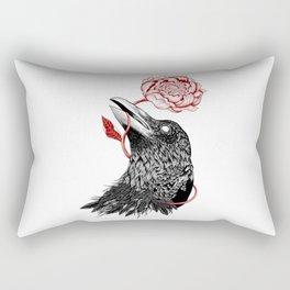 Raven Flower Rectangular Pillow