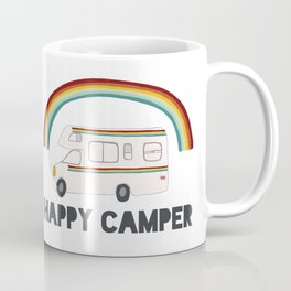 HAPPY CAMPER RAINBOW RV Coffee Mug