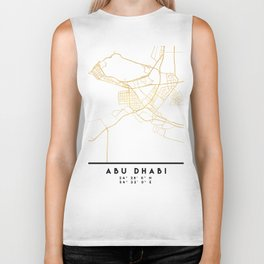 ABU DHABI UNITED ARAB EMIRATES CITY STREET MAP ART Biker Tank