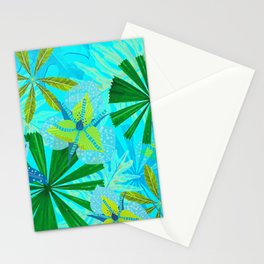 My blue abstract Aloha Tropical Jungle Garden Stationery Cards