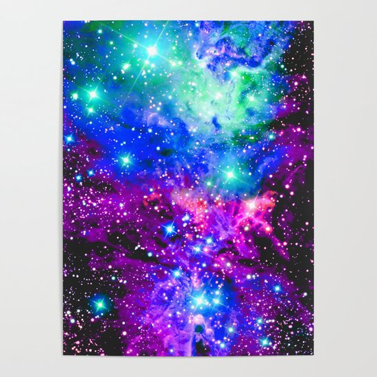 Fox Fur Nebula Galaxy Pink Purple Blue by vintageby2sweet