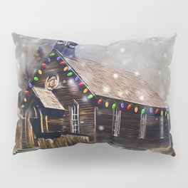 Church At Christm Pillow Sham
