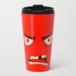 Angry Face Travel Mug