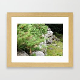 Stone wall Framed Art Print