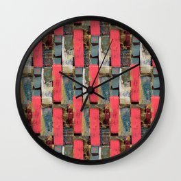 pink dots no1 Wall Clock