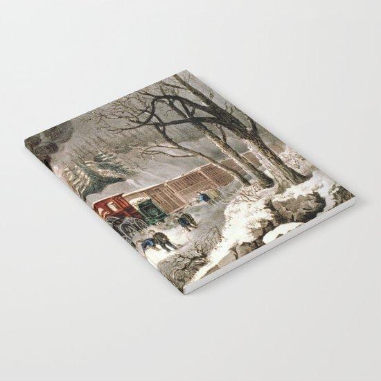 """""""Snow Bound"""" Vintage Railroad Scene Notebook"""