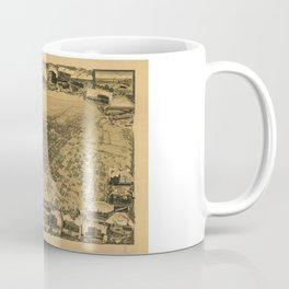 Aerial View of Stockton, California (1895) Coffee Mug
