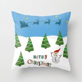Christmas motif No. 1 Throw Pillow