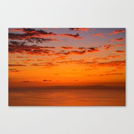 Sunset over Canary Islands Canvas Print