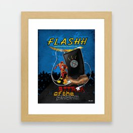 Attack of the Phone! Framed Art Print