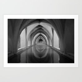 Black and white light and shadow VI Art Print