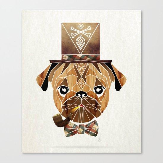 mister pug Canvas Print