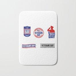 National Veterans Day Bath Mat