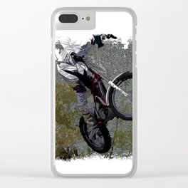 Off-roading - Motocross Racing Clear iPhone Case