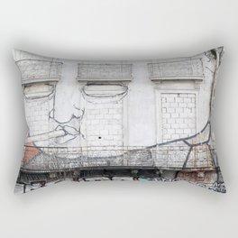 The facade's face, graffiti Rectangular Pillow